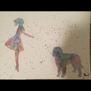 Other - Golden/labradoodle watercolor painting